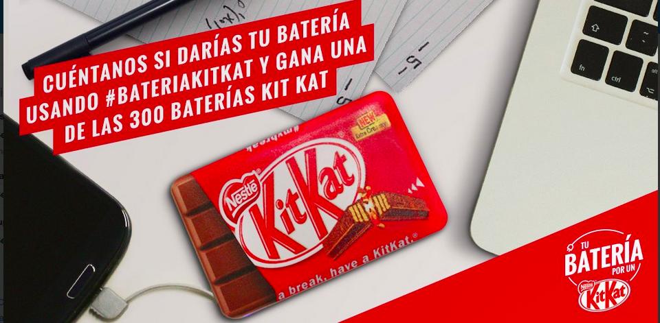 Campaña en Twitter de Kit Kat con premio.