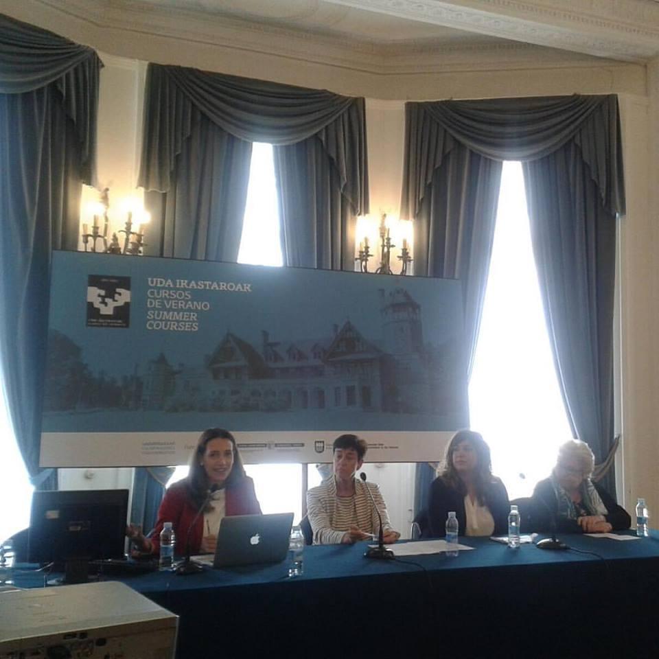 Un momento de la mesa redonda en el Palacio Miramar (Donostia- San Sebastián) el pasado 20 de junio .