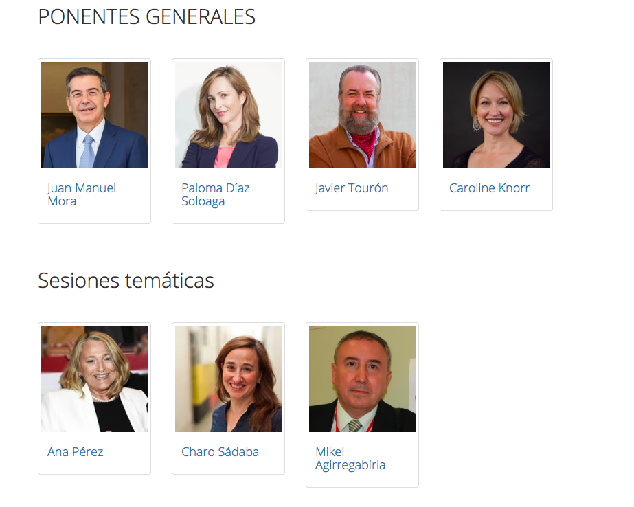 Ponentes Generales- Interaxiongroup Bilbao 2018